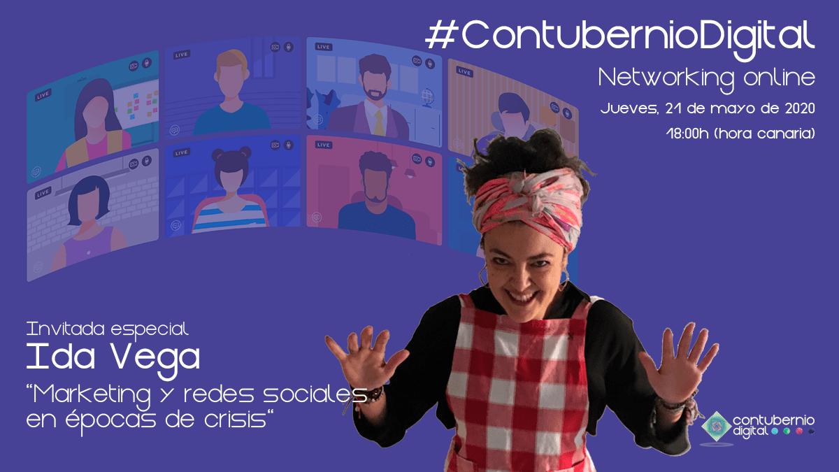 Cartela #ContubernioDigital con Ida Vega