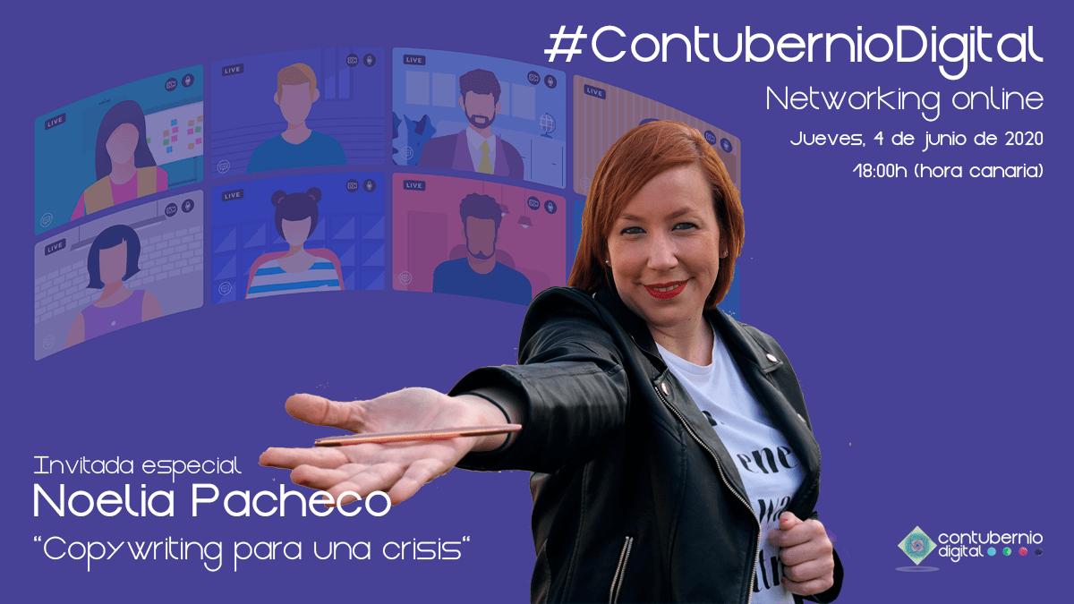 Cartela #ContubernioDigital con Noelia Pacheco