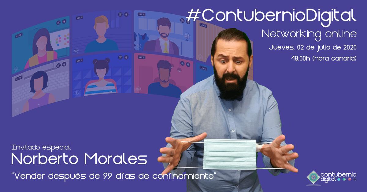 Cartela #ContubernioDigital con Norberto Morales