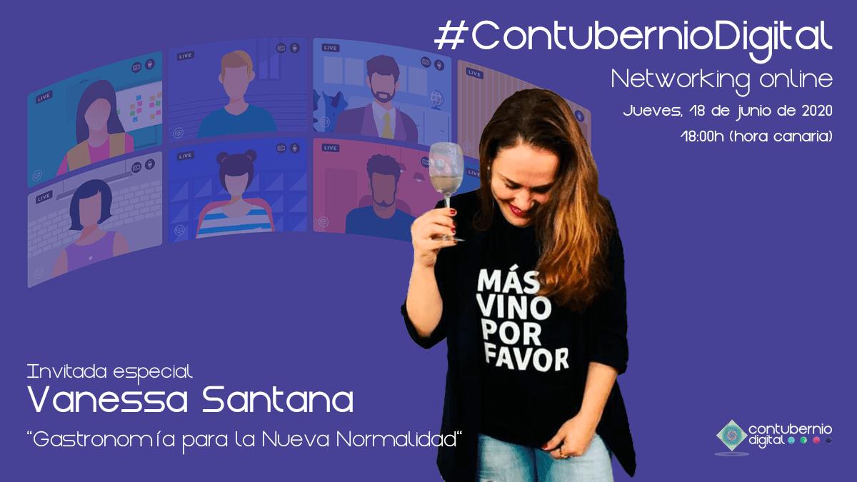 Cartela #ContubernioDigital con Vanessa Santana