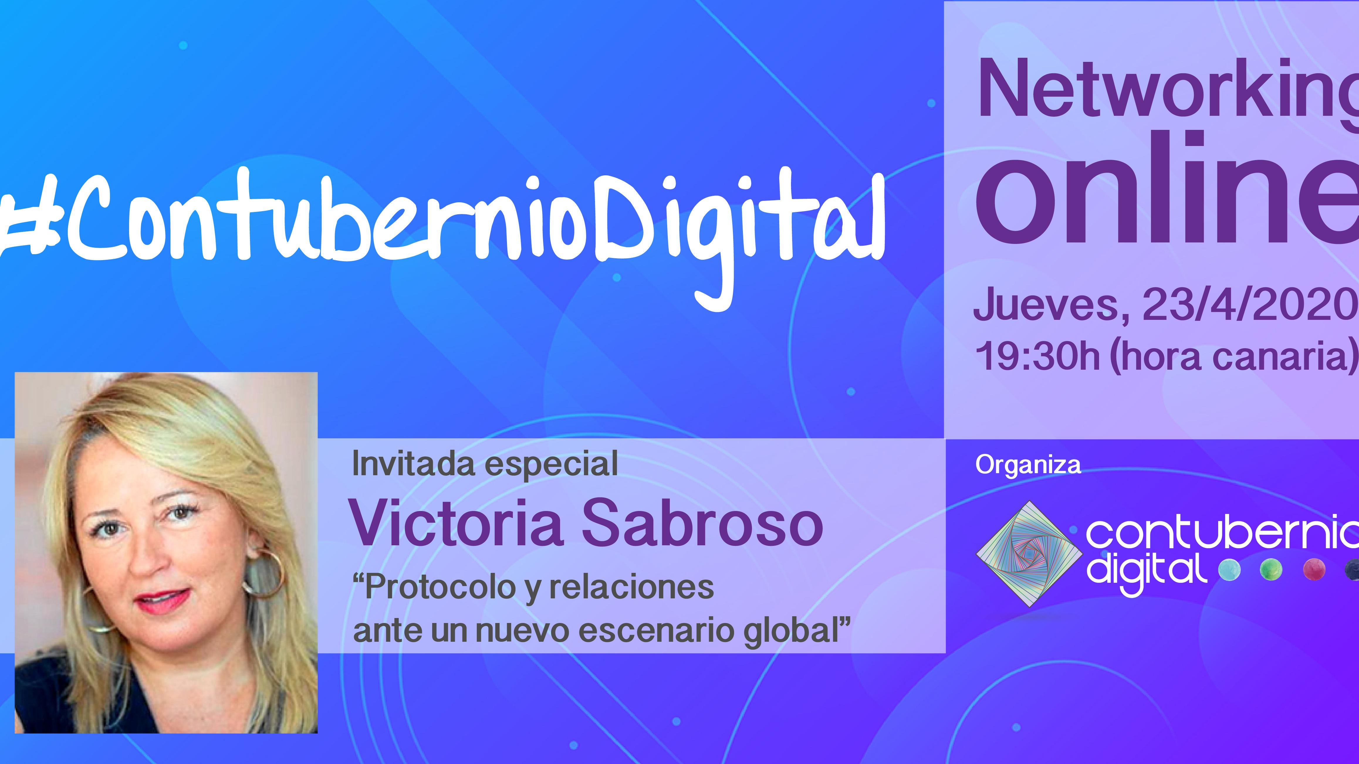 Cartela #ContubernioDigital con Victoria Sabroso